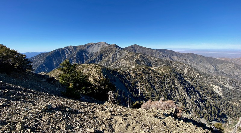 iPhone 11 Pro Max, wide-angle,westerly view of Mt. Baldy, from Thunder Peak