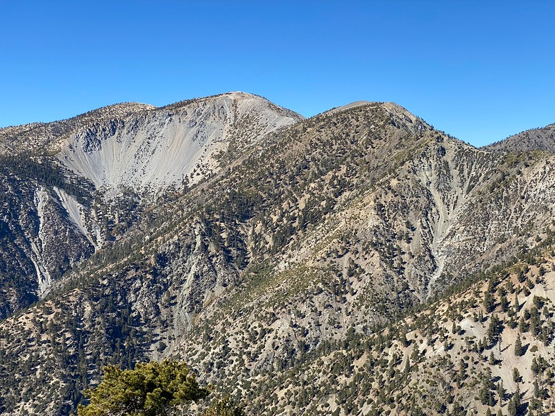 Mt. Baldy view from Thunder Mountain.