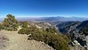 Easterly view atop Telegraph Peak, 8939ft<br /> I-15 and El Cajon Pass visible in the distance.