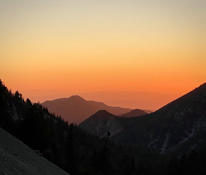 "Sunset from the ""notch"", Mt. Baldy"