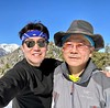 With SH Ahn, on the summit of Mt. Timber, with view of Mt. Baldy to the west.<br /> January 14, 2020