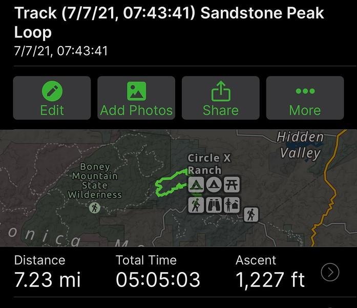 Sandstone Peak Hike<br /> July 7, 2021