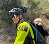 Biker with hairy hitchhiker<br /> Big Sycamore Canyon Road<br /> May 8, 2021