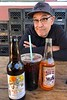 Rick with beverages<br /> Copper Top BBQ<br /> Big Pine, California