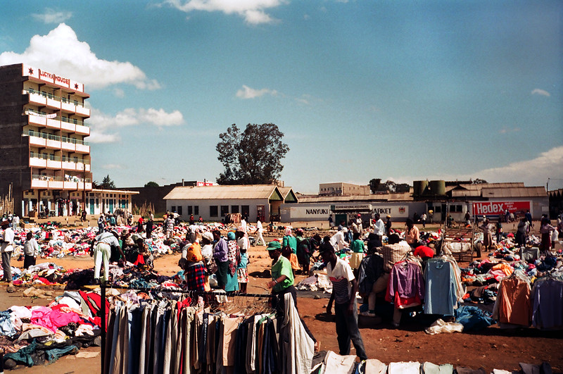 Nanyuki, market village, Kenya<br /> Stayed at the Jambo Hotel<br /> June 3, 1994