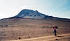 Trail en route to Kibo Hut, with Mawenzi Peak in the background<br /> June 12, 1994