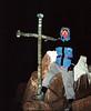 On Lenana Peak, 4,985m/16,355ft, before sunrise.<br /> June 8, 1994