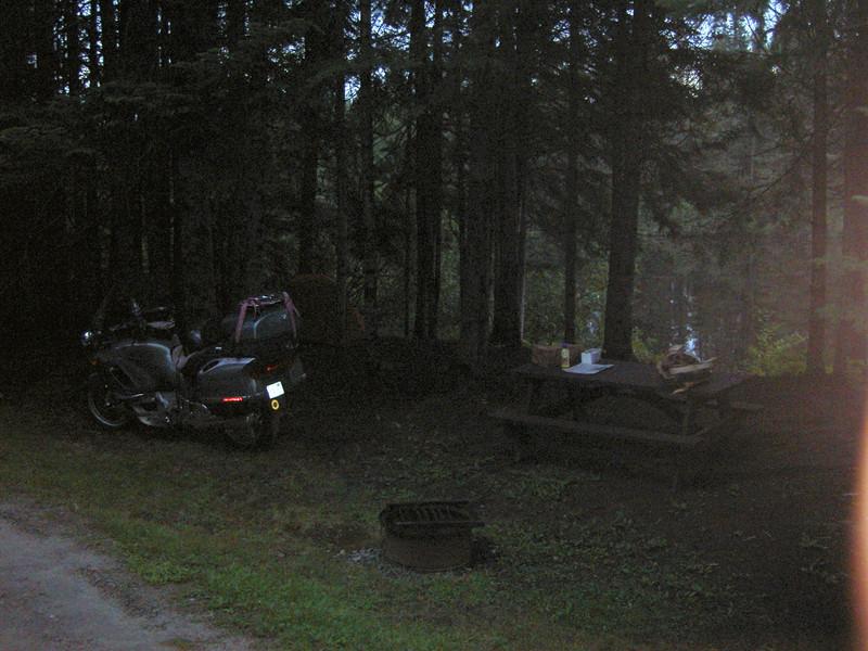 Camping at Mollidgewock in Errol