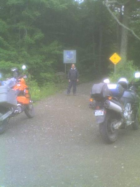 Entrance to Maine crash site East of Moosehead Lake