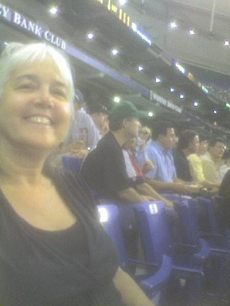 Carla at Tampa Bay Stadium 07  Red Sox vs. Rays