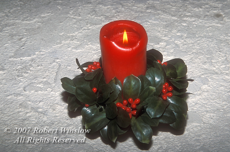Red Holiday Candle