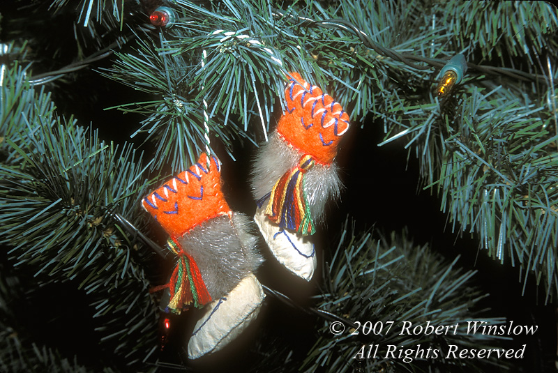 "Christmas Tree Ornament called ""Kimacs"".  Made in Northern Manitoba, Canada, North America"