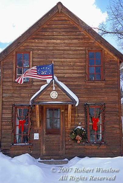 NoPR, House Exterior, Holiday Season, Crested Butte, Colorado, USA, North America