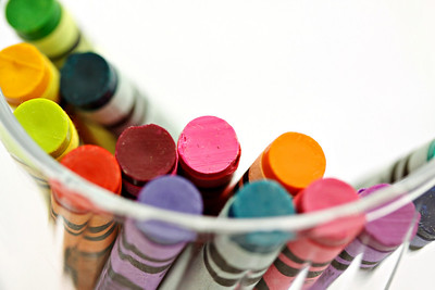 Crayons in Glass Horizontal