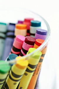 Crayons in Glass Vertical
