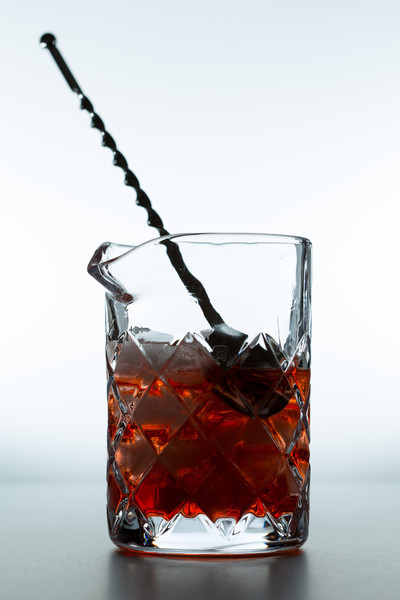 Stir with a bar spoon until thoroughly mixed and chilled.