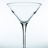 Take a fresh martini glass.