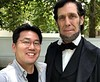 With Lincoln impersonator, Randy Duncan.<br /> Lincoln's Home in Springfield, Illinois