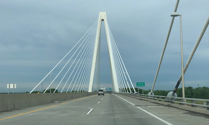 Crossing the Mississippi from Missouri to Illinois