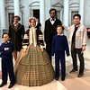 With the Lincoln family, Lincoln Presidential Library and Museum, Springfield, Illinois.
