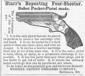 Starr pepperbox May13 to Jun5, 1865