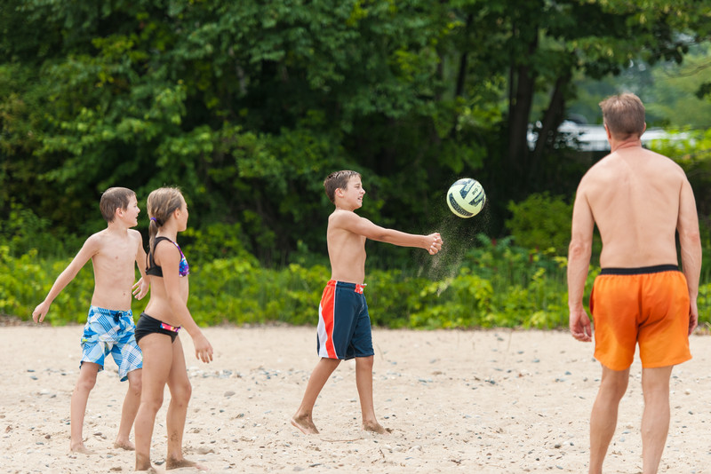 Not all the volleyball was of the catch and throw variety.