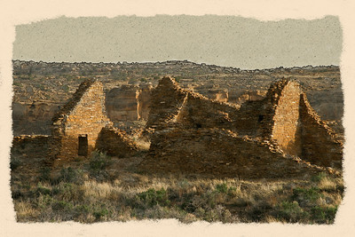 Pueblo Del Arroyo, Chaco Culture National Historical Park Editeded in Photoshop CS4