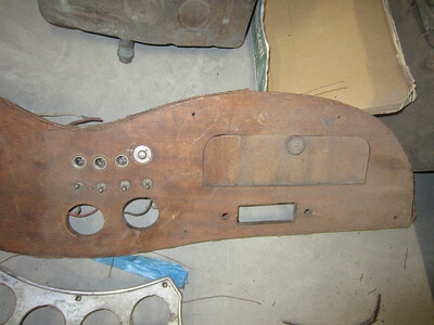 Dash Right Side - Glove Box and Radio Cut Out
