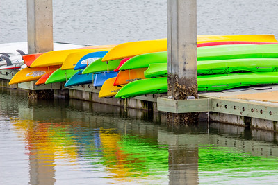 Kayaks at Shem Creek