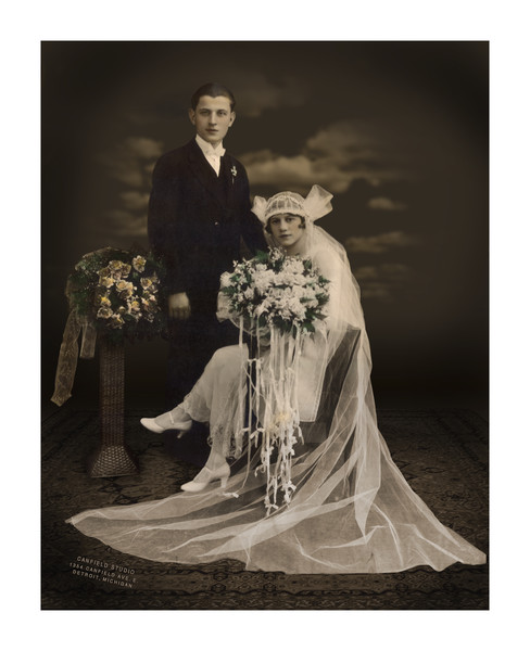 My grandparents, August and Sylvia Budnick.  About 1925.