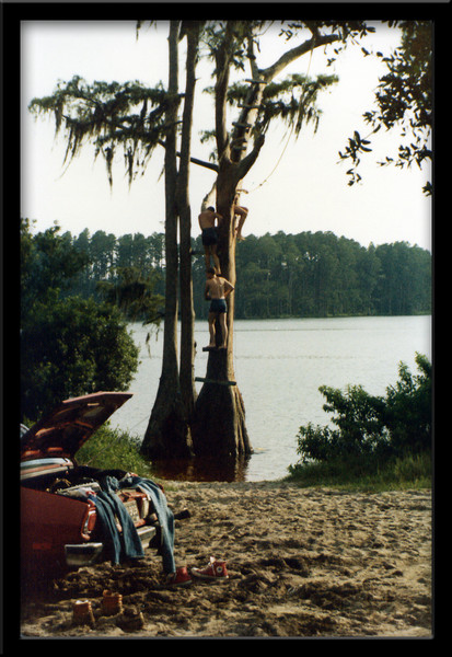 Swimming in a Florida lake.  Summer, 1980.