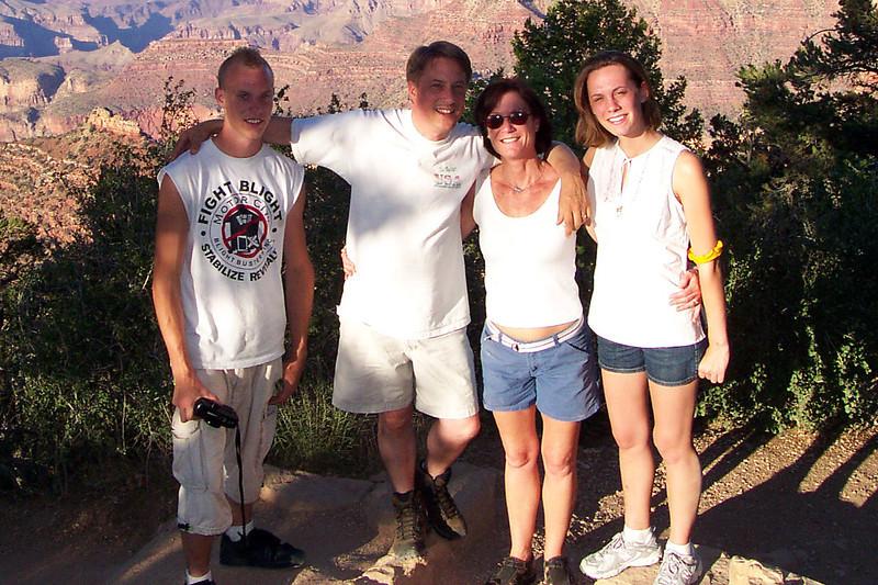 At the Grand Canyon, July, 2005.