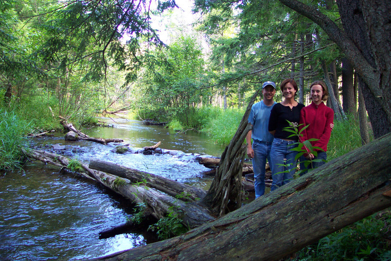 Dave, Pam, and Jamie.  Camping trip the week before Jamie started college.  August, 2004.