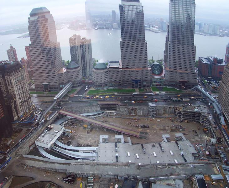 Ground Zero, NY, NY.  From the 45th floor of the Millenium Hilton.  Summer, 2004