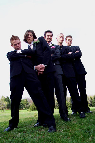 Eric and friends before the Lake Orion High School Prom, Spring, 2005