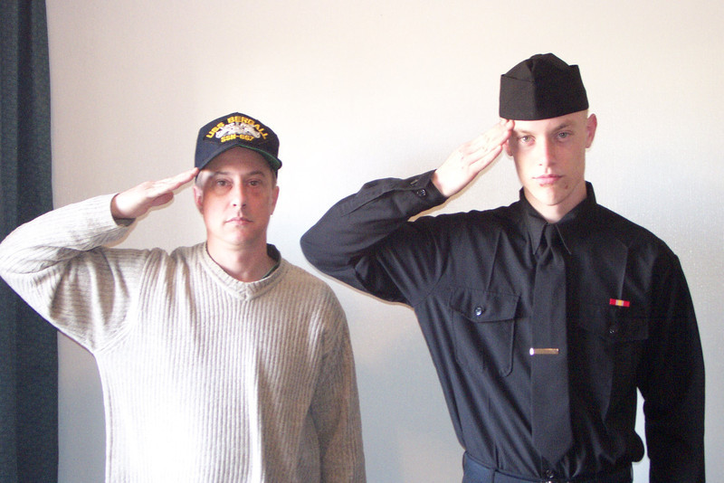 Dave and Eric, the day Eric completed boot camp.  Late 2005.