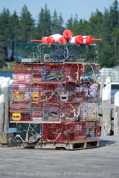 Stack of traps - Owls Head, Maine