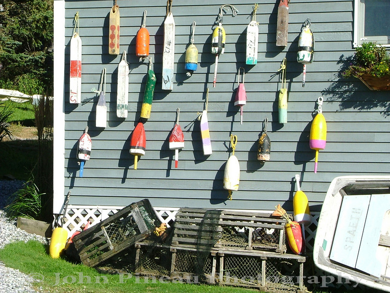 Lobster Buoys - Southport, Maine
