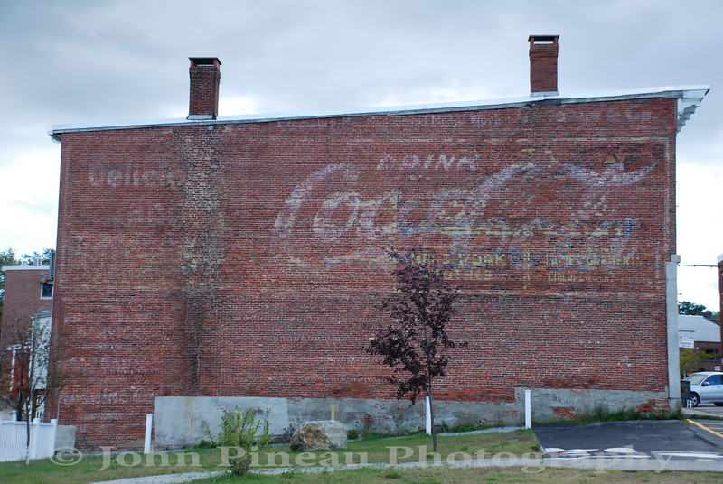 Faded Coca Cola sign - Belfast, Maine