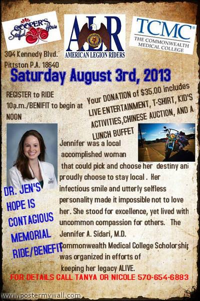 jennifer sidari benefit ride1