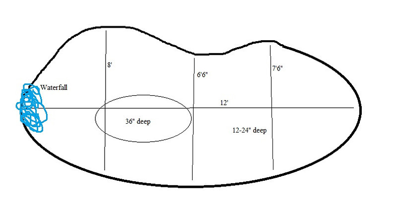 pond dimensions