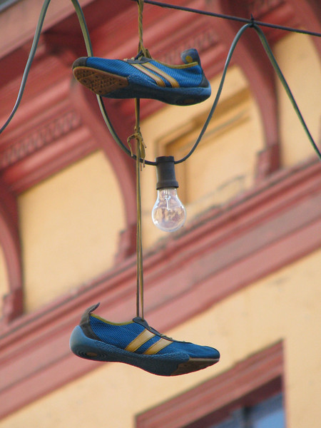 Shoes hanging 1