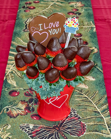 An edible bouquet for Valentine's Day