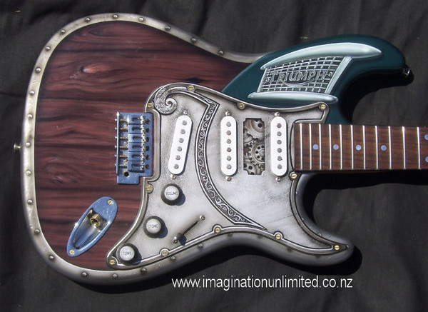 Custom painted guitar by Dean Lawrence