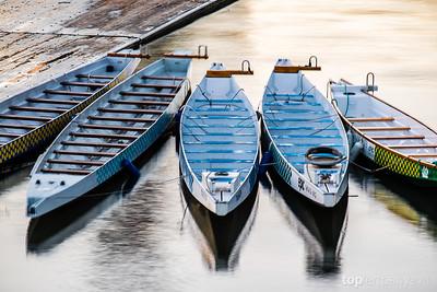 Row boats on the Willamette River taken during 2013 Worldwide Photo Walk.