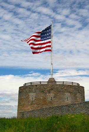 Flag over Fort Snelling