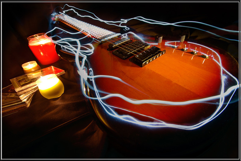 Guitar Light Painting<br /> Effects created in camera using a Maglite