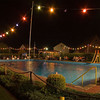 Nighttime at the pool