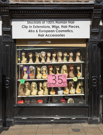 Window with Heads - Nessgate York North Yorkshire UK 2014