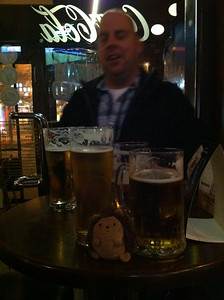 Exploring Budapest, Hungary Chippoke had a few too many with the AV guys at Presszó 53!